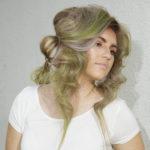 Karen Allen Model - Blonde with green highlights